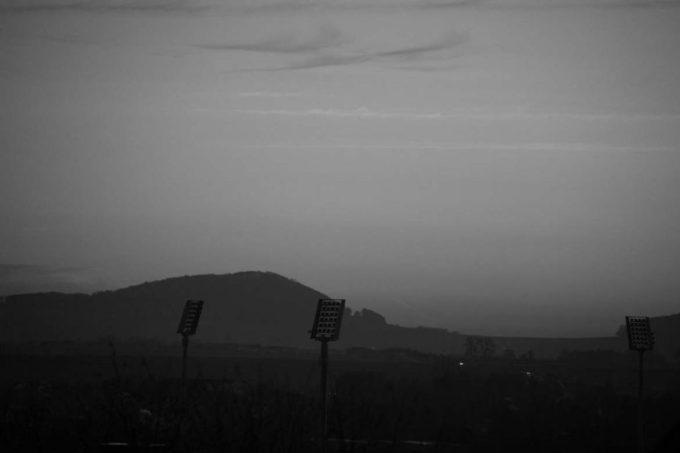 Baunatal // Stadion in der Dämmerung
